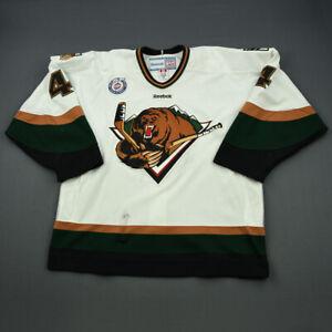 2012-13 James Martin Utah Grizzlies Game Used Worn ECHL Hockey Jersey! MeiGray