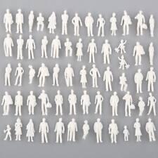 100PCS 1:100 HO Scale White Model People Figure Unpainted Train Figures New