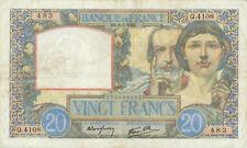 France P-92 20 francs 1941 Science et Travail F-VF