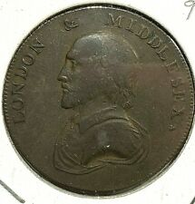 Great Britian 1/2 Penny Conder Token Middlesex 1792 DH-928 VF