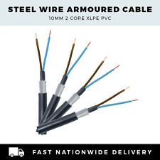 SWA Cable 2 Core 10mm Steel Wire Armoured Per Metre