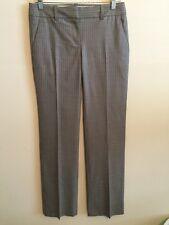 5361)  J CREW 0 cool wool gray pinstripe dress pants Italy straight leg low rise