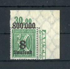Deutsches Reich Nr.278Y ** ECKRAND r.o. PLATTE ME 150,-++ !!! (130471)