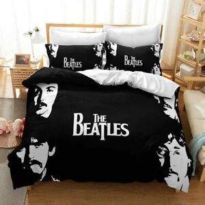 THE BEATLES DUVET DOUBLE BED COVER , 2 PILLOW CASES SET BRAND NEW 200 SQUARE FAB