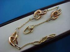 CHIMENTO ORIGINAL 18K TRI COLOR GOLD LINK BRACELET,7.25-9 INCH ADJUSTABLE LENGTH