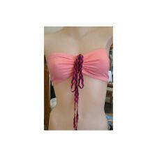 Bonds Peach Jersey Cotton Wire Free Bandeau Strapless Bra With Central Tie