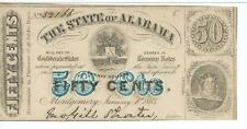 Alabama Montgomery Blue 50 cents 1863 2nd series map tree #52166 PlateC