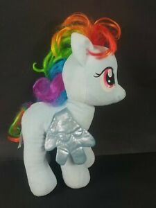 "Large Build-A-Bear My Little Pony Rainbow Dash Plush 16"" Messy Hair 2013"