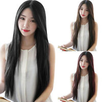 Natural Women's Long Straight Midsplit Full Hair Wig Party Night Club Hairpiece