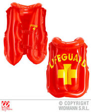 Inflatbale Lifeguard Vest Jacket Baywatch Swimming Beach Fancy Dress Accessory