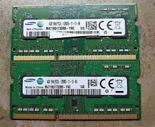 Samsung 8GB 2X 4GB DDR3 2RX8 PC3-12800S 1600mhz 204pin SODIMM Laptop Memory