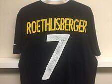 NIKE PITTSBURG STEELERS BEN ROETHLISBERGER  NFL Football T SHIRT Jersey Sz L