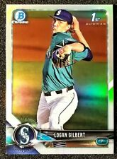 2018 Bowman Chrome Baseball Logan Gilbert Refractor 1st Bowman Card BDC-63