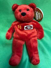 M487 NFL San Francisco 49ers Joe Montana #16 Salvinos Cuddly Toy Beanie NWT