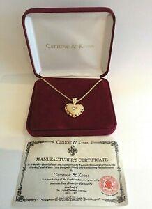 JACQUELINE BOUVIER KENNEDY Crystal Enamel Heart Necklace Camrose Kross Original
