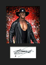 THE UNDERTAKER #3 (WWE) Signed Photo A5 Mounted Print - FREE DELIVERY