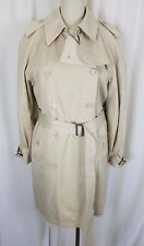 Vintage Fleet Street Long Belted Cape Top Classic Trench Coat Womens 12 Lined