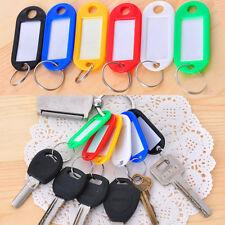 50 pcs Travel Plastic Key Ring Name Address Tag Keyring Luggage Label ID Card