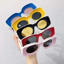 Thick Rectangle Sunglasses Lens Frame Flat Oversize Men Women Classic Colorful
