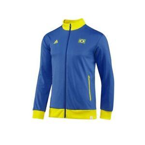 adidas Brasilien Track Top Trainingsjacke Sportjacke Fußball Jacke Herren Männer