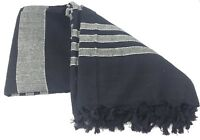 Tagesdecke Decke XXL Bettüberwurf gestreift 100% Baumwolle 220 x 250 cm Yoga