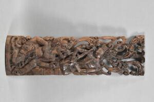 f95r26- Asiatika Wandrelief, figürliche Darstellung, Gottheit, Holz geschnitzt