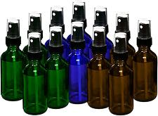 15ml Glass empty Bottles for Essential Oils Oil Perfume Spray Amber Blue 12 Pack