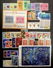 United Nations NY complete years 1965, 1966, and 1967 MNH 137-180
