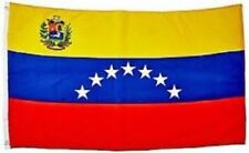 Venezuelan Flag with Shield 3x5 ft 7 Stars of Venezuela Coat of Arms