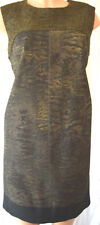 GIAMBATISTA VALLI GREEN/BLACK ANIMAL PRING TWEED CHEST DRESS SIZE 46