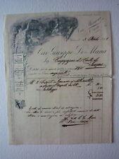 Fattura Giuseppe De Maria Pagliariccio Poltrone Tapezziere Salute Torino 1901