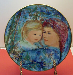 Michele and Anna 1991 Mother's Day Plate by Edna Hibel-MIB