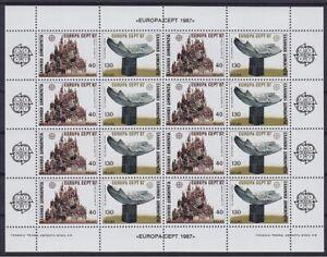 CEPT Griechenland 1987 Mi 1651 - 1652 ** Kleinbogen TOP, postfrisch, MNH