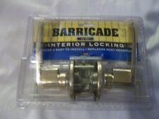 NEW Barricade By Yale Interior Locking Gold Lever Lock Set
