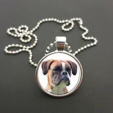"""Boxer Dog Pendant On a 18"""" (Or Any Size)  Ball Chain Necklace Birthday Gift N108"""