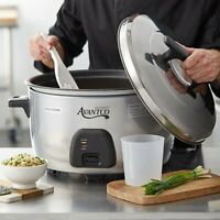 Commercial 60 Cup (30 Cup Raw) Electric Rice Cooker / Warmer - 120V, 1750W