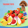 Dog Toys Pet Puppy Chew Squeaker Squeaky Plush Sound Fruits Vegetables Toys Gift