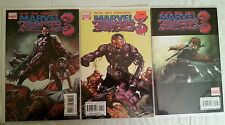 Lot of 3 Marvel Zombies 3 issue 1 1st print variant Deadpool cover variants