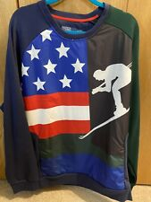 Polo Ralph Lauren Pullover Ski 92 Mens XXL 2XL USA Flag New NWT Retail $298