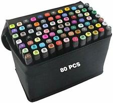 80 Colors Graphic Marker Pen Dual Tip Sketch Pen Twin Marker Double Ended