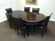 Antique Queen Anne Style Mahogany Dining Table