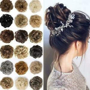 Curly Messy Hair Bun Piece Updo Scrunchie Fake Natural Bobble Hair Extensions UK