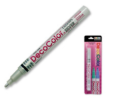DecoColor Paint Pen Marker Liquid Silver Glossy Oil Based Opaque Fine Point