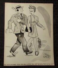 Vintage Charles Chas Sage 8x10 One Panel Gag Original Art Wash NEW SUIT