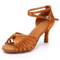 Latin Dance Shoes Women Ballroom Tango Dance Shoes Soft Indoor Dance 5/7cm Heels