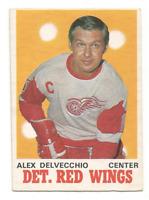 1970-71 O-Pee-Chee #157 Alex Delvecchio Detroit Red Wings
