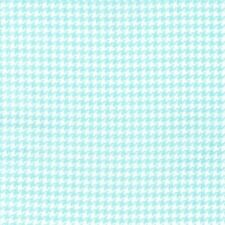 Michael Miller Scottie Houndstooth Fabric in Aqua - Blue - dog check