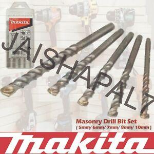 Makita Masonry Drill Bit Set x 5 fits IMPACT DRIVERS, MAKITA, DEWALT BOSCH