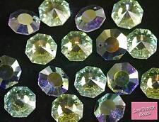 1x Swarovski Crystal AB Octagon Pendant 6208 18mm Ideal Pair of Earrings/Pendant