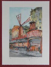 Lithografie Jean-Pierre Laurent - Moulin Rouge